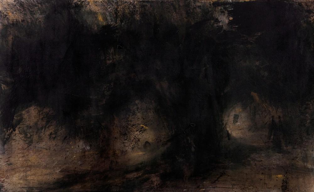 Ils sont venus deux acrylic on canvas, 130x80 cm, 2016