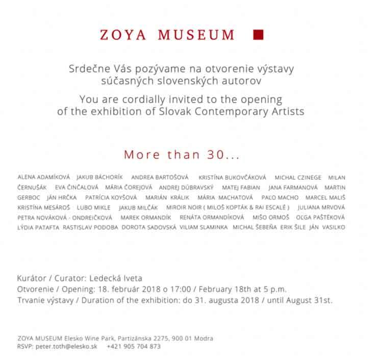 2f6ae029a Feb 2018 / Group Show @ Zoya Museum